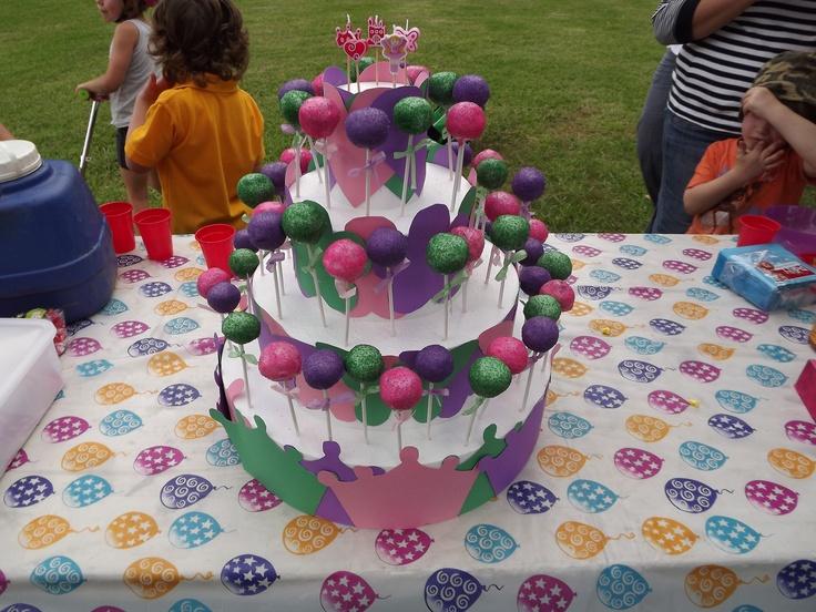 Mikaela's 5th Birthday Cake, Oreo & Tim Tam Cake Pops