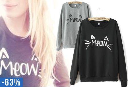 Meow trui met maar liefst 63% korting, laat deze kans niet schieten. Nu slechts €14,95! combineer deze sweater nu ook met de Meow beanie #trui #meow #sweater #mode #trend