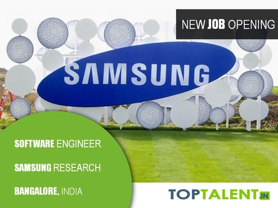 Samsung Research India is looking to hire Software Engineers from premier institutes with a CSE background having 0-3 years experience and a B.Tech / BE / M.Tech degree.  Please apply here: http://www.toptalent.in