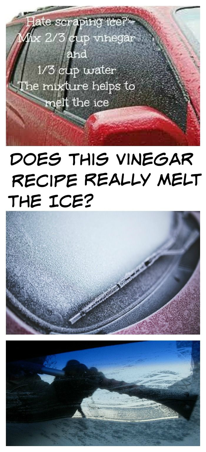 We've all seen this tip floating around Pinterest for a vinegar and water recipe that makes melting ice on a car windscreen really easy. Does it really work? Find out at alwaystheholidays...
