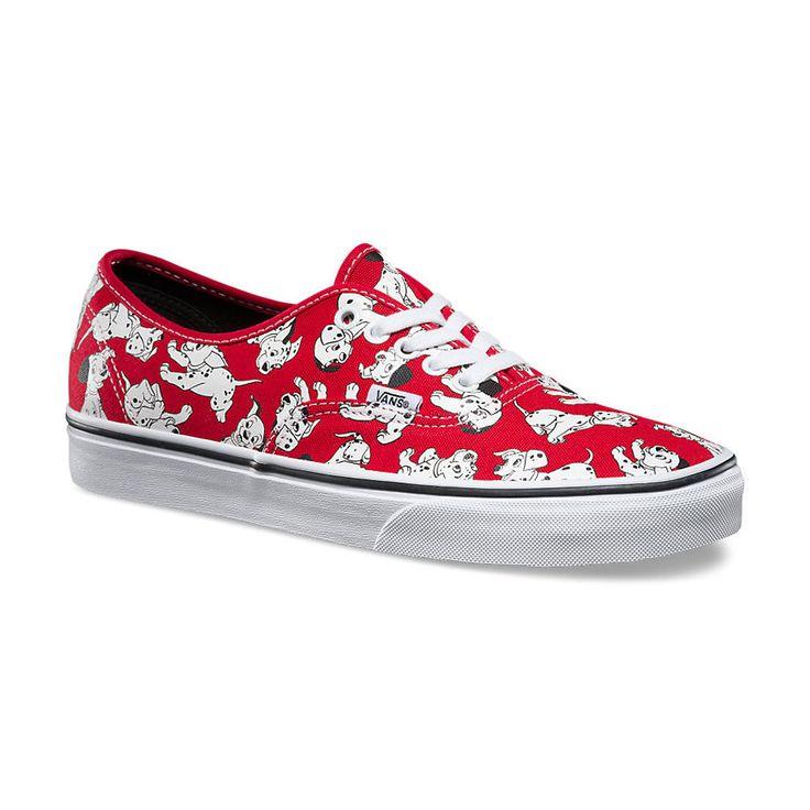 Women's Vans Dalmatians/Red Disney Authentic Shoes