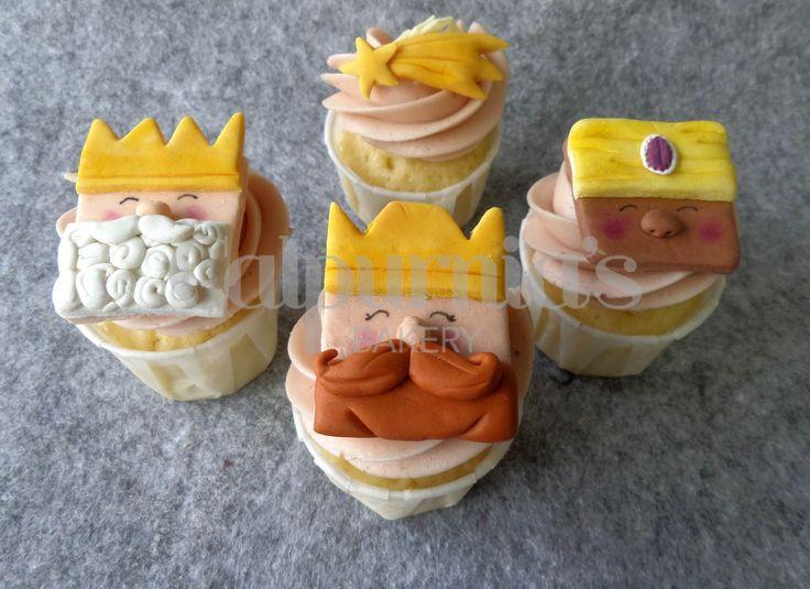 Cupcakes Reyes Magos y estrella fugaz