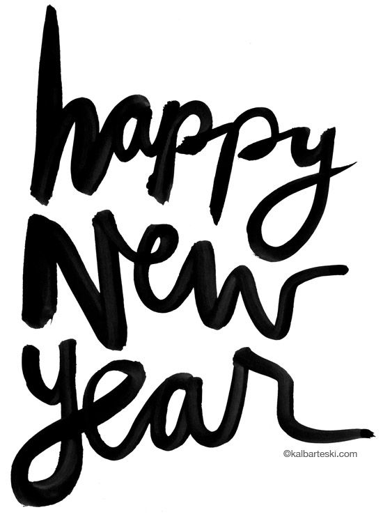 happy new year :: hand lettering by kal barteski