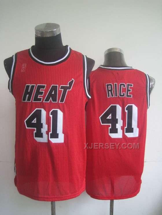 http://www.xjersey.com/heat-41-rice-red-new-revolution-30-jerseys.html HEAT 41 RICE RED NEW REVOLUTION 30 JERSEYS Only $35.00 , Free Shipping!