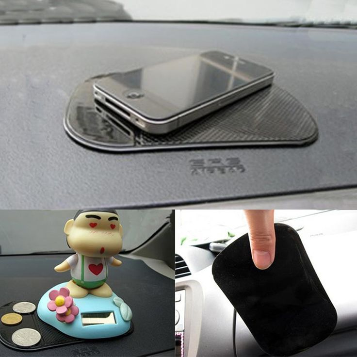 car-styling Black Anti Slip Mat mp3 Navigation Phone Holder For Car Anti-Slip Mat For Phone Pad Useful Car Accessories Interior #women, #men, #hats, #watches, #belts, #fashion