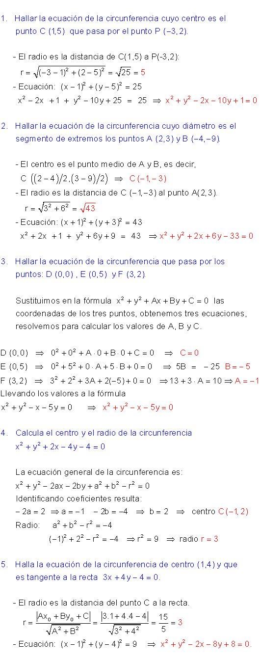 Ecuación circunferencia