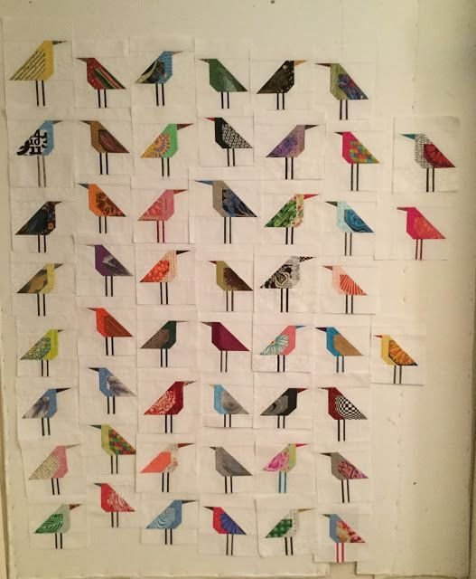 To whoever wanted to know how many birds I was making the answer is: I have no idea, nor do I care. When the design wall gets close to ful...