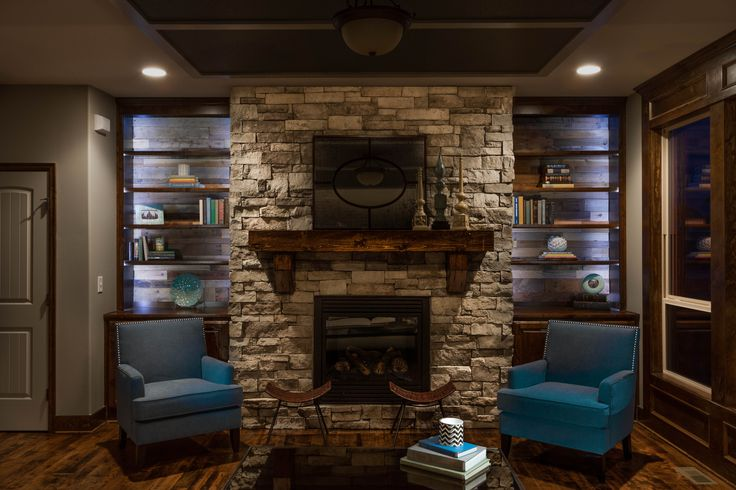 Led lights reclaimed wood in cabinets fireplace mantel for Hardwood floors kansas city