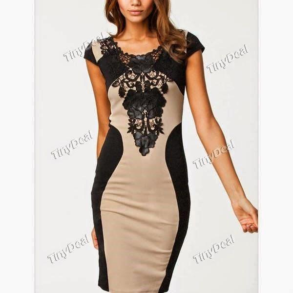 Интернет - магазины : Женская одежда, элегантное платье бодикон с коротк...