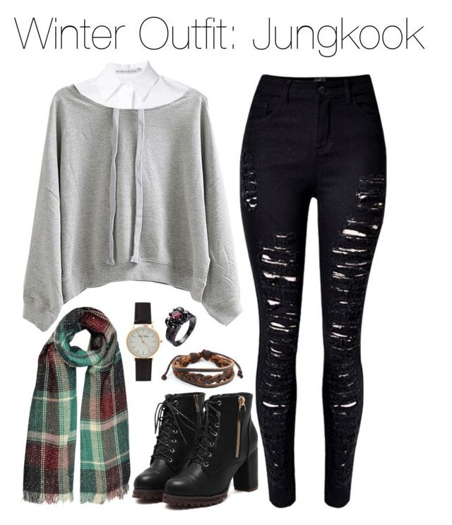 """Winter Outfit: Jungkook"" by kookiechu ❤ liked on Polyvore featuring WithChic, Alice + Olivia and West Coast Jewelry"