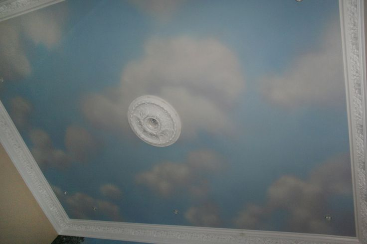 236 best images about ceiling painting on pinterest for Ceiling mural clouds