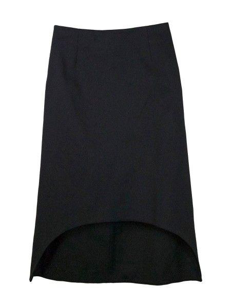 Shop Marni  Gonne: Gonna Marni, nera, in cotone cady, linea ad A con fondo frontale ad arco, lunghezza posteriore sotto il ginocchio e lunghezza anteriore sopra il ginocchio, chiusura dietro con zip.    Composizione: 100% cotone.