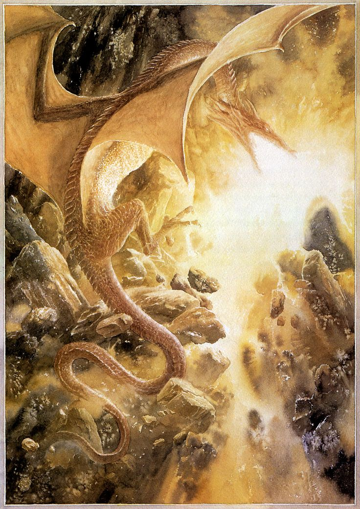 Alan Lee - Illustrations for the 1997 reissue of J.R.R. Tolkien's The Hobbit: 12. Inside Information (IT: Notizie dall'interno) _IV