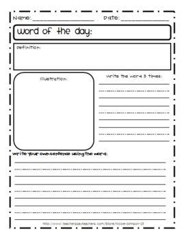double entry journal template for word - 1000 images about personal dictionary vocab on pinterest