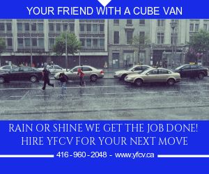 #RainOrShine We get the job done! Call Your Friend With a Cube Van for your next #Moving 416-960-2048 #YFCV #Toronto #Movers www.yfcv.ca #Supplies 381 Dundas St.E. Toronto, ON #Move