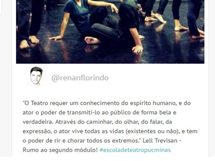 Frases de Lell Trevisan encontradas nas redes sociais #lelltrevisan #frases #artes #artista #atores #teatro #pequenasfrases #autores #poemas #poesia #art