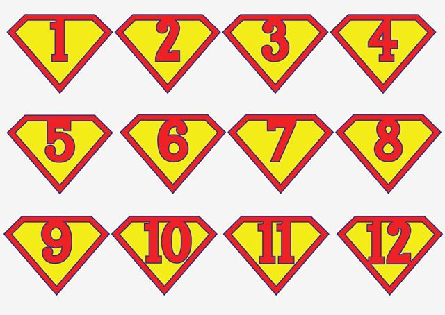 Printable Superman birthday banner for a super hero birthday party (also great as an iron-on t-shirt graphic) || Simple and clever craft ideas, sewing patterns, templates and printables || Merriment Design