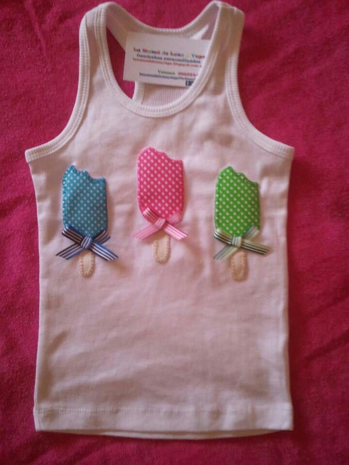 .Camiseta con helados en relieve, muy original!