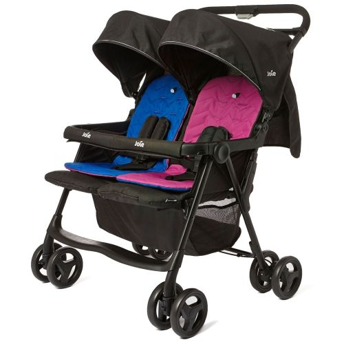 Joie Aire Twin Stroller in Pink and Blue