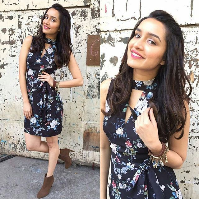 Rate her look  1..  Shraddha Kapoor in Forever New Dress for movie promotions @BollywoodStylefile ❤❤❤ . Dress  ~ @forevernew_india Heels  ~ @forever21 Styled by @tanghavri Make up by @shraddha.naik Hair by @amitthakur26 . #bollywoodstylefile #bollywood #stylefile #india #indian #indianfashion #indianstyle #bollywoodstyle #delhi #mumbai #bollywoodactress #bollywoodfashion #mbcbollywood #shraddhakapoor #okjaanu #adityaroykapoor