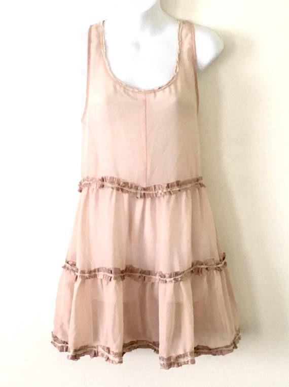 Faery Baby Doll Shell Pink BoHo Mori Festival Dress  Raw