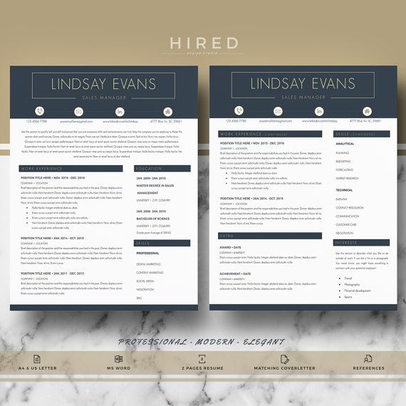 Modern Resume Template for Word: Lindsay   - 100% Editable. - Instant Digital Download. - US Letter & A4 size format included. - Mac & PC Compatible using Ms Word.   ▬▬▬▬▬▬▬▬▬▬▬   ► PROMO CODES: --> Get 30% OFF on 2 templates with the code HIRED30 --> Get 35% OFF on 3 templates with the code HIRED35  -->How to apply discount codes:  Once youve added an item to the cart, on the right, click Apply the store discount code on Total Items. Enter the coupon code and click Apply. Th...