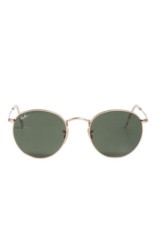 ray ban gold round g15 sunglasses  ray ban round metal sunglasses in gold