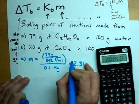 Calculating Freezing Point Depression + Boiling Point Elevation - YouTube