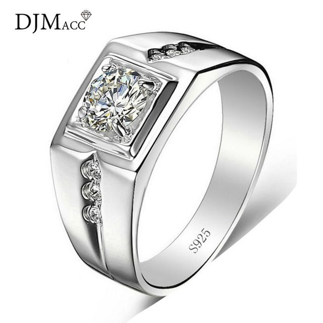 Special offer DJMACC Brand High Quality Fashion Jewelry 925 Sterling Silver 5mm CZ Zircon love Engagement Wedding Rings For Men (DJ0957) just only $6.42 with free shipping worldwide  #weddingengagementjewelry Plese click on picture to see our special price for you