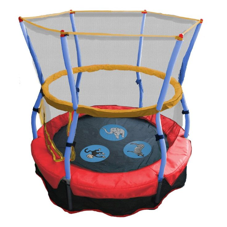 Fresh Kids Toddlers My First Enclosed Small Skywalker Trampoline with Safety Net