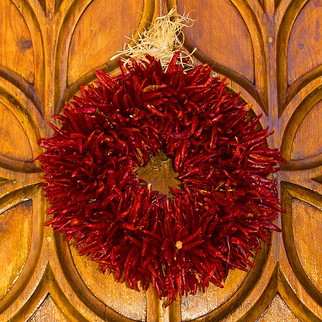 My New Favorite Holiday Decoration... A Ristra Wreath