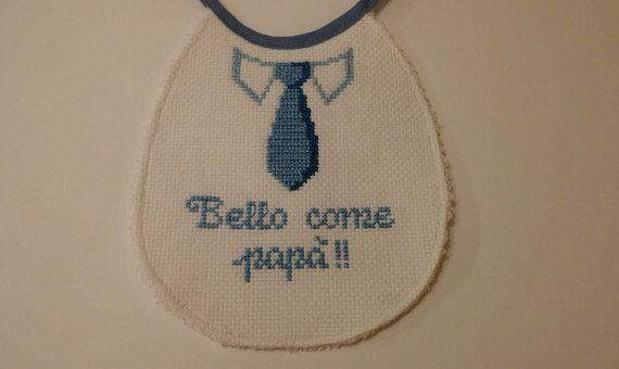 Bavaglino punto croce - Neonato https://www.etsy.com/it/shop/Creativaconagoefilo