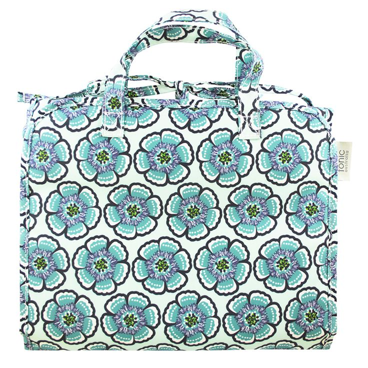 Flora Sea Green Hanging Cosmetic Bag - Perfect for travelling
