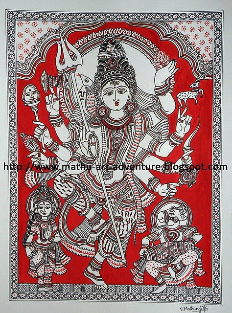 Kalamkari [Lord Shiva]