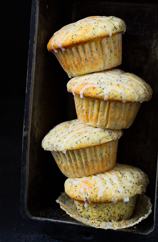 Lemon Poppy Seed Muffins - these are amazing! Loaded with fresh lemon flavor and love the glaze.
