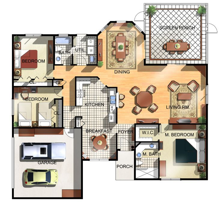 Floor plans for a house