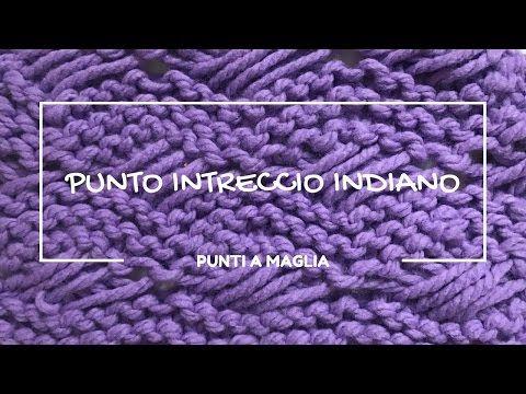 Punto intreccio indiano a maglia, indian cross stitch, knit stitches, punti a maglia - YouTube