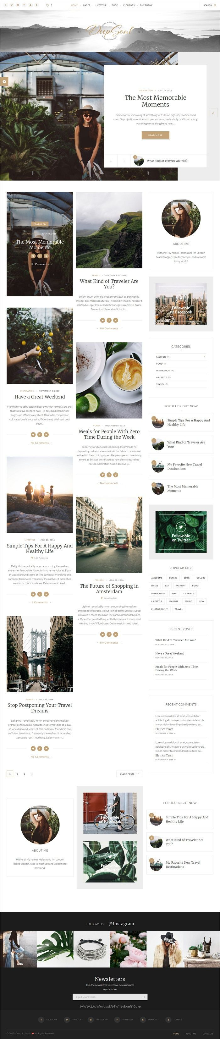 Deep Soul is a creative, stylish, modern and fully functional #WordPress #blog theme for adventure #traveler bloggers website with multiple homepage layouts download now➩ https://themeforest.net/item/deep-soul-lifestyle-wordpress-blog-shop-theme/19652957?ref=Datasata  - No site #ThemeForest encontra os melhores #Templates & #Plugins para #Wordpress. Confira em http://www.estrategiadigital.pt/themeforest-templates-wordpress/