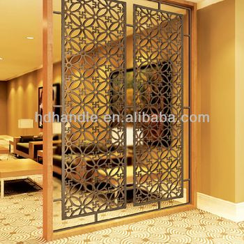 new design Chinese laser cut stainless steel metal decorative room partitions