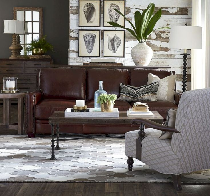 Vittorio Brown  Pc Leather Living Room