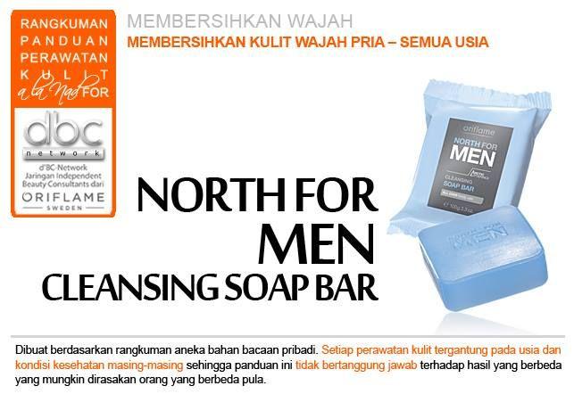 North For Men - Cleansing Soap Bar Membersihkan kulit wajah pria. Untuk semua usia.