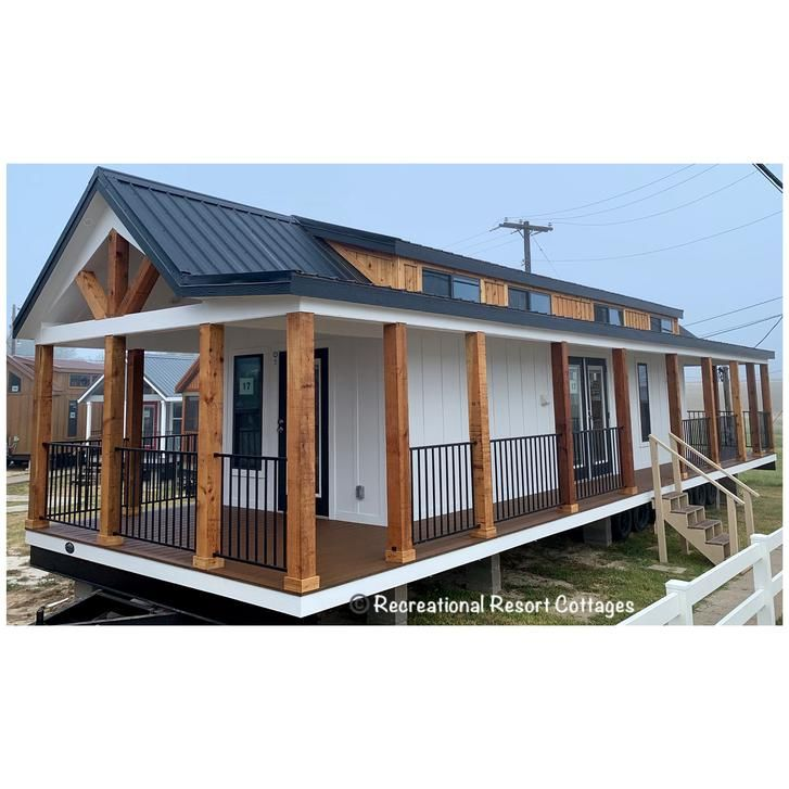 Triple Porch Tiny Home With Front Kitchen Tiny Farmhouse Tiny House Plans Small Cottages Mobile Home Porch