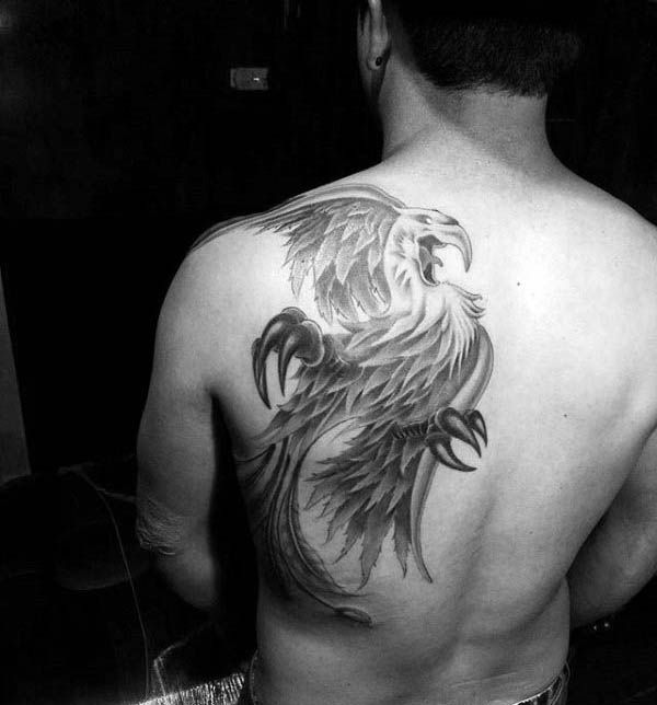 Cool Shoulder Blade And Back Phoenix Guys Tattoo Designs Phoenix Back Tattoo Tattoo Designs Men Tattoos