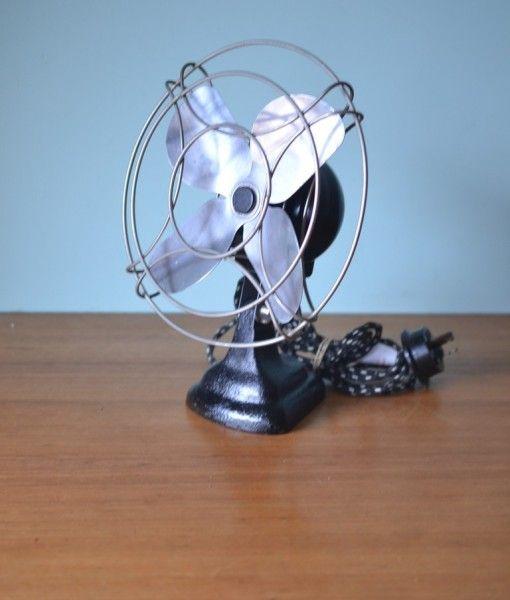 Vintage Magic Air fan Australia Black cast iron base