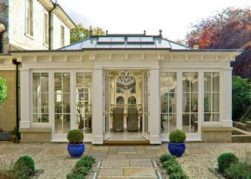 sunroom windows; enclosed porch idea; Orangeries - traditional - exterior - other metro - Town and Country Conservatories