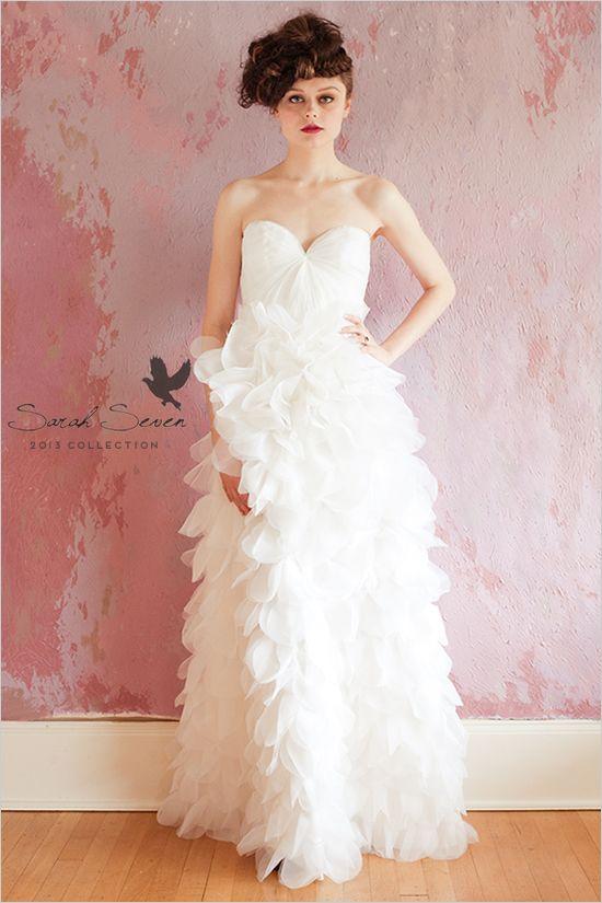ruffled Sarah Seven Wedding Dress