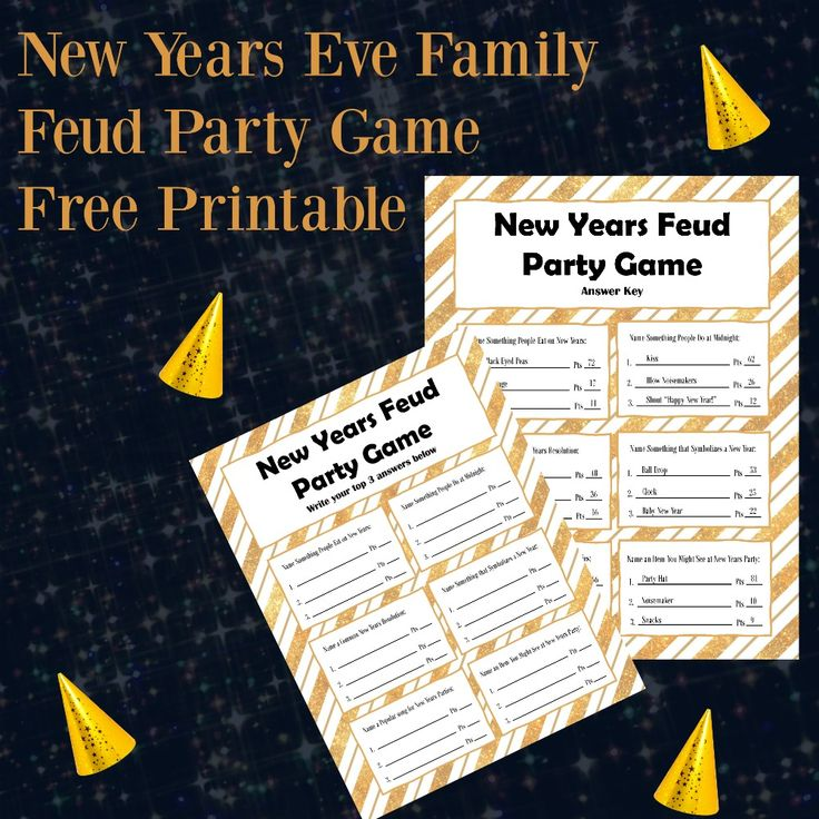 New Years Eve Family Feud Party Game Free Printable