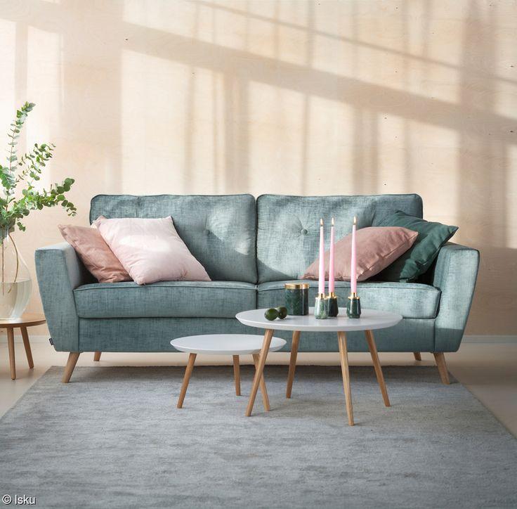 sohva,sohvapöytä,isku,nostalginen