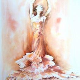 Chrisitna, danseuse de flamenco www.voyage-aquarelle.fr