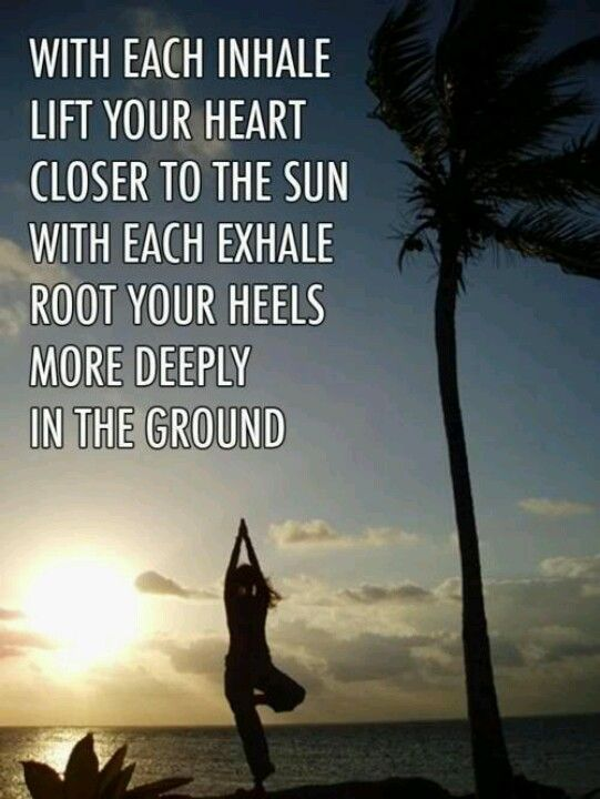Inhale! Exhale! Lovely, practical words to remember for this's week's yoga practice. #yoga #yogainspiration